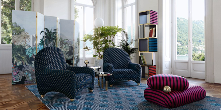 roche bobois gives carte blanche to maison christian lacroix. Black Bedroom Furniture Sets. Home Design Ideas