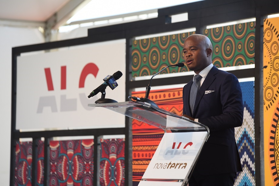 Fred Swaniker pendant son discours Luxury Mauritius