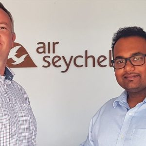 Chief Executive Officer Remco Althuis together with AirFi Customer Success Manager Nitant Shinde