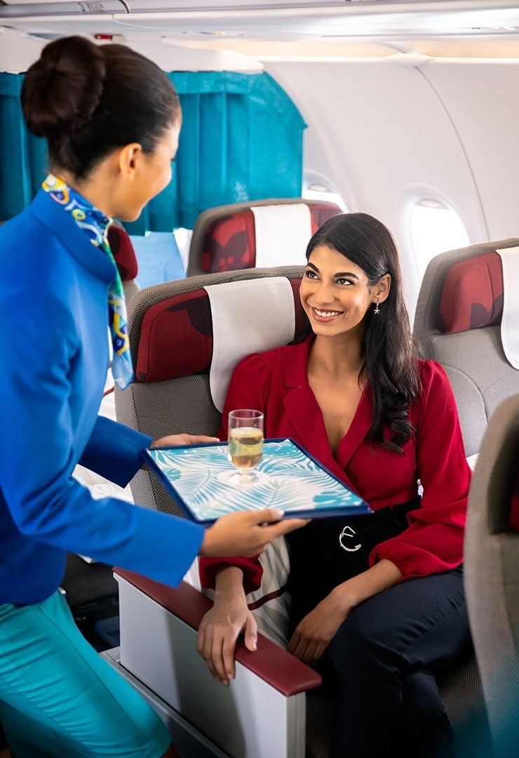 Air Seychelles Business Class Cabin Luxury Indian Ocean