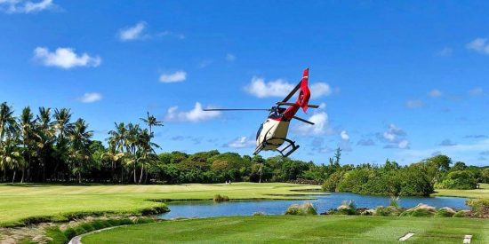 Corail Helicopteres Luxury Indian Ocean decollage_green