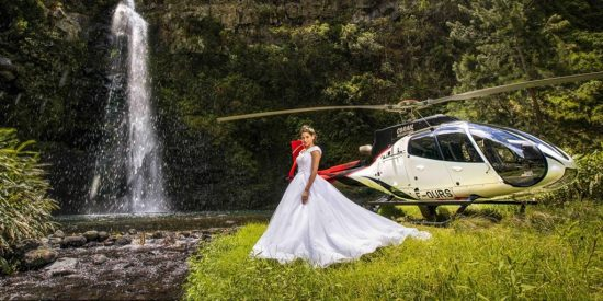 Corail Helicopeteres Heli wedding Luxury Indian Ocean 6