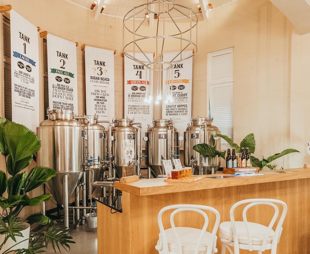 Sugar Beach Luxury Indian Ocean brewery